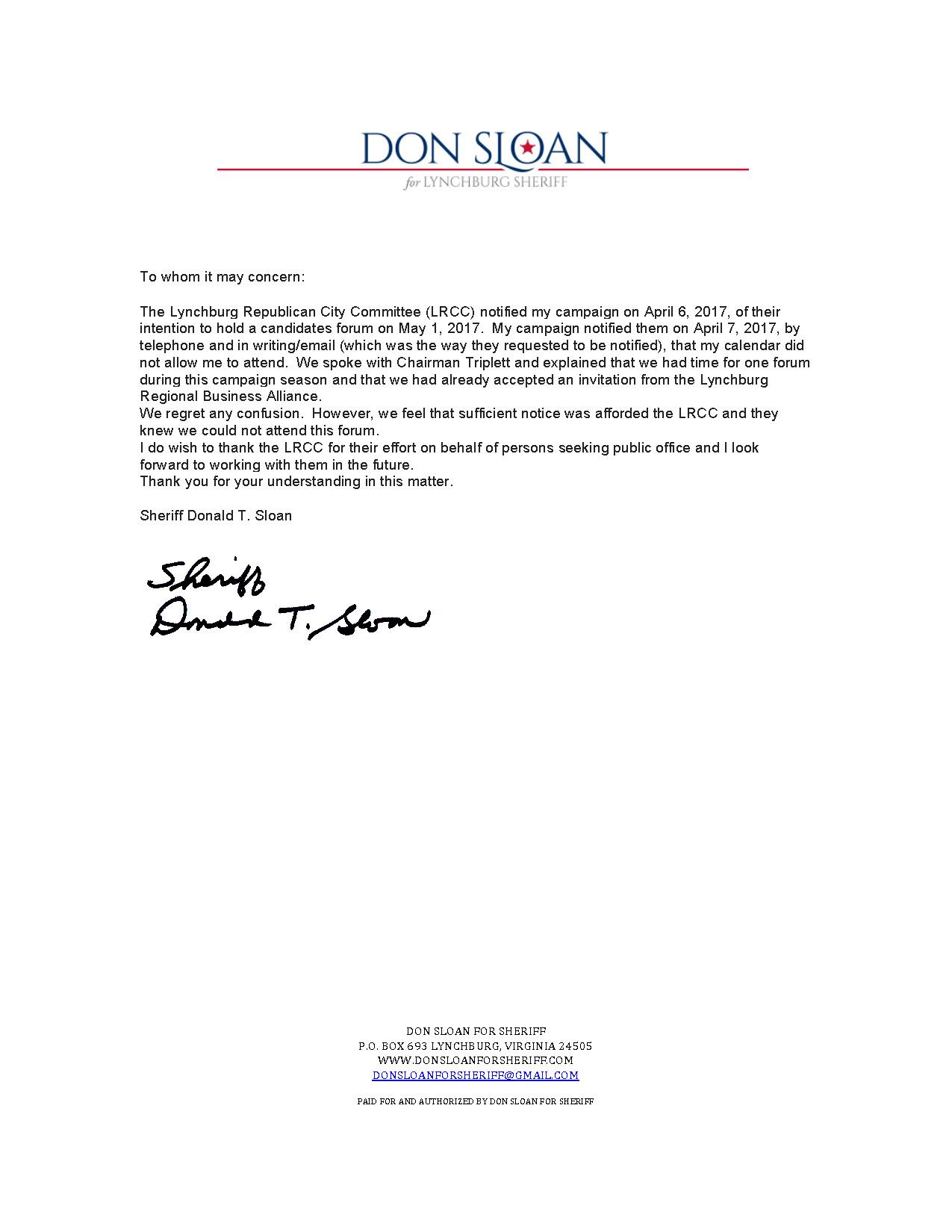 Press Release RE Forum